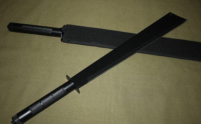 黑色开山刀_黑色70cm铁管开山刀平头_大鹏刀网
